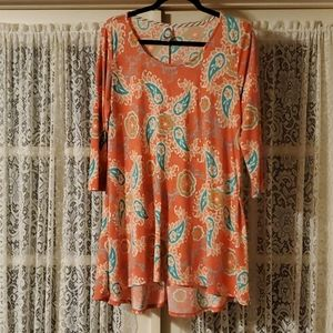 Honeyme Floral Paisley Dress Size Small